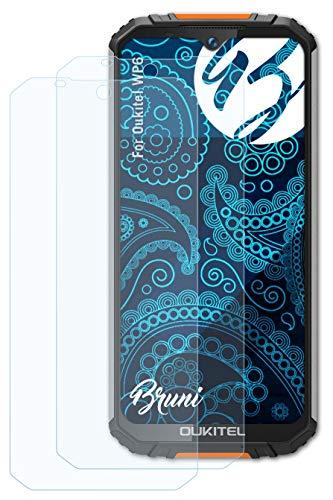 Bruni Schutzfolie kompatibel mit Oukitel WP6 Folie, glasklare Bildschirmschutzfolie (2X)