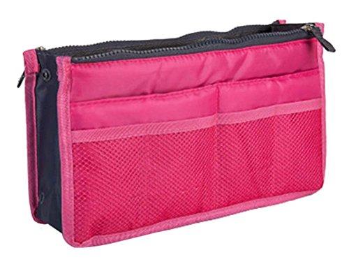 multifonction pochette de Voyage Portable Wash Bag Cosmetic Bag, rose Red