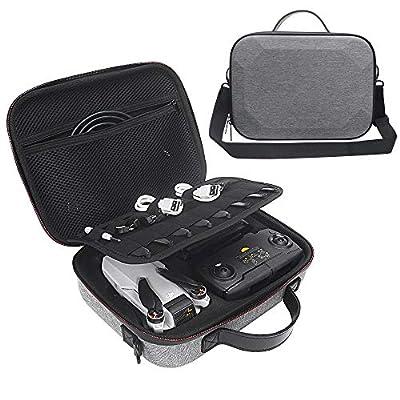 HIJIAO Hard EVA Travel Case for DJI Mavic Mini - Drone FlyCam Quadcopter Waterproof Carrying Bag for DJI Mavic Mini Accessories(Gray)