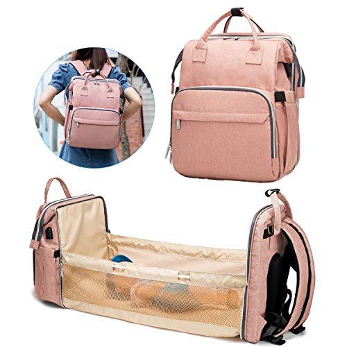 DERCLIVE - Bolsa de pañales plegable para bebé, portátil, para hombre, mujer, 6 colores para elegir