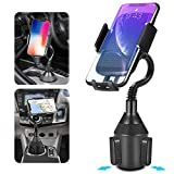 Car Cup Holder Phone Mount Universal Adjustable Gooseneck Stand 360° Rotatable Cradle