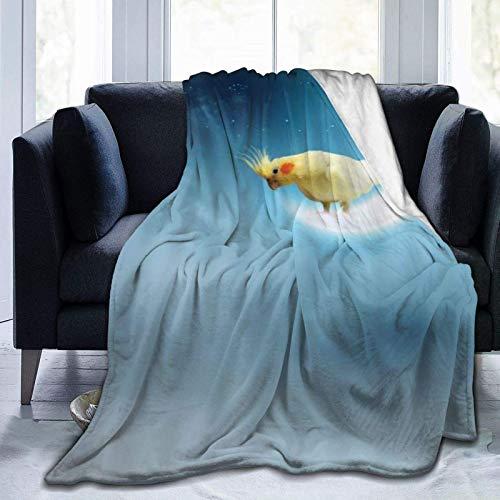 Manta de forro polar ultra suave para adultos y niños, manta de viaje de 80 x 60 pulgadas