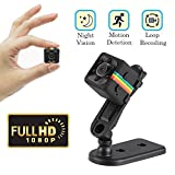 Cainda Mini Spy Camera Full HD 1080P with Night Vision and Motion Detection, Super Video Recorder Sports Camera, Small Camcorder, Mini Security Camera for Car Home and Office Surveillance SQ11
