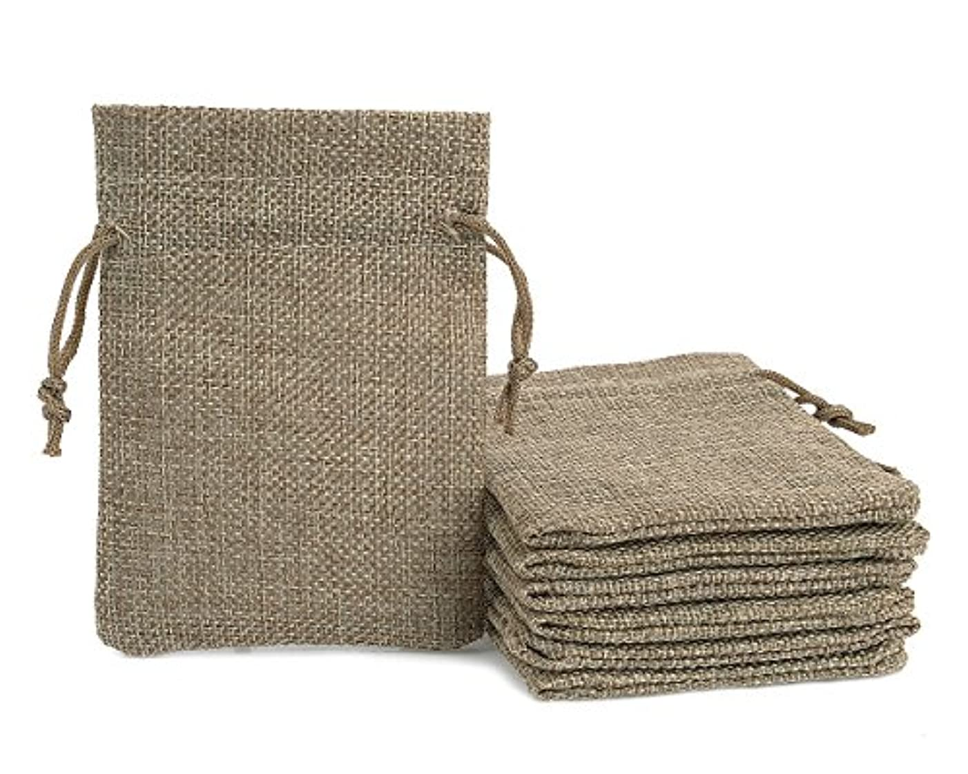 Ace Select 20 Pieces Burlap Bags Drawstring Gift Bags Wedding Party Favor Bags 9cm x 12cm