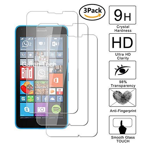 Guran [3 Pezzi] Pellicola Protettiva per Microsoft Lumia 640 XL/Nokia 640 XL Smartphone Ultra Sottile Screen Protector in Vetro Temperato Film Ultra Resistente