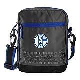 Schalke 04 FC Schultertasche Umhängetasche grau