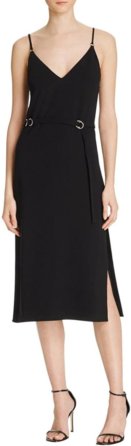5a7 Womens Ivy Crepe Belted Cocktail Dress