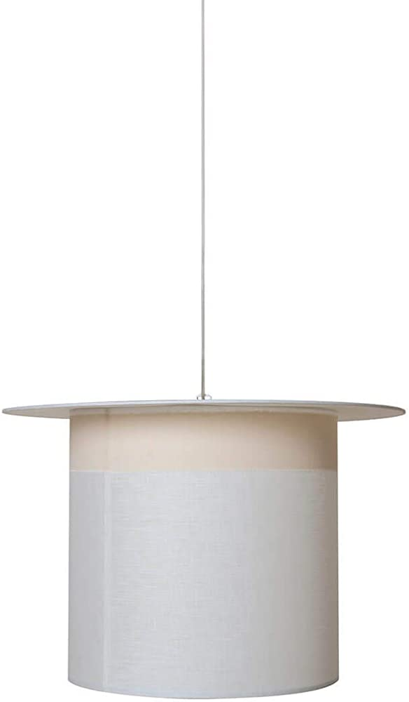 Karman wow, lampada a sospensione, a forma di cilindro, in lino bianco SE696CC
