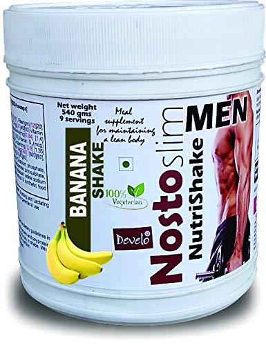 DEVELO NOSTOSLIM LOW CALORIE SLIMMING PROTEIN SHAKE FAT BURNER WEIGHT LOSS PRODUCT FOR MEN 540 GM [BANANA]