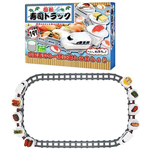 FSDELIV Juguete giratorio de sushi eléctrico giratorio Sushi Toy Rail Set para niños Boy Girl Role-Play