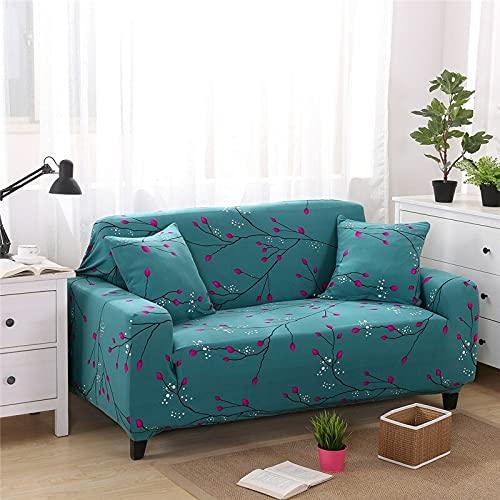 WXQY Funda de sofá con Estampado Floral para Sala de Estar Funda de sofá Envuelta herméticamente Funda de protección Antideslizante para Mascotas, Funda de sofá de Esquina A19 4 plazas