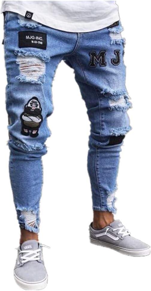 Chickwin Pantalones Vaqueros Hombre Rotos Skinny Slim Fit Insignia Largos De Mezclilla De Cintura Baja De Pitillo Deportivos Elastico Cremallera Rota Jeans De Bolsillo Amazon Com Mx Ropa Zapatos Y Accesorios