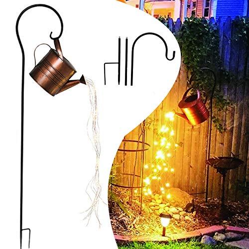 ZZYJ Decoración Ligera del Arte del Jardín de La Ducha de La Estrella,Verter Las Luces LED Estrelladas de La Regadera,Luces Decorativas Impermeables para Jardín Patio con Soporte