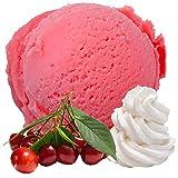 Crema Amarena sabor cereza helado vegano sin azúcar 1: 3 Helado suave para su máquina para hacer helados