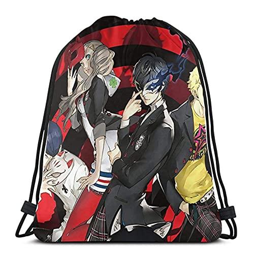 Elegante mochila multifunción con cordón, bolsa de saco simple duradera, póster de personajes, bolsas de almacenamiento para niños, yoga, personajes de senderismo