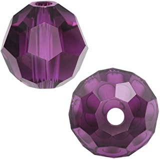 50pcs 10mm Adabele Austrian Round Crystal Beads Amethyst Compatible with 5000 Swarovski Crystals Preciosa SS2R-1011