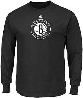 Mens Logo II Long Sleeve Crew Neck Tee - Brooklyn Nets