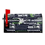 Seattle Seahawks Printed Mailbox Covers Magnetic Mailbox Wraps Post Letter Box Cover for Sunscreen Garden Decor Yard