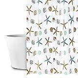 Duschvorhang, 180x200cm Anti-Schimmel Wasserdichter Waschbar Anti-Bakteriell Stoff Polyester Badewanne Vorhang, mit 12 Duschvorhängeringen, Duschvorhang Transparent