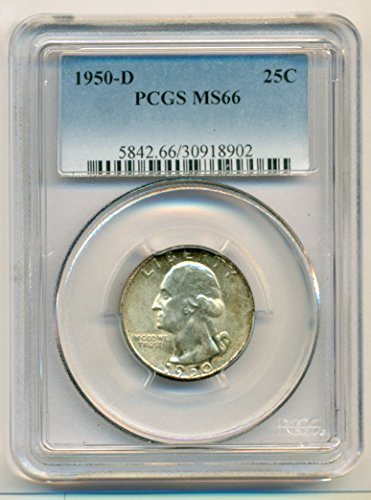1950 D Washington Quarter MS66 PCGS