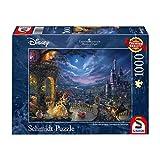 Schmidt Spiele Rompecabezas Marca Modelo 59484 de la línea de La Bella y la Bestia de Disney - Baile a la luz de la Luna