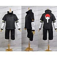 NARUTO ナルト うちはサスケ風 黒 ●コスプレ衣装(男M)
