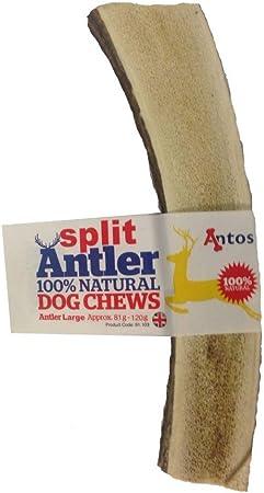 Antos 100/% Natural Split Antler Perro Masticar el Perro hipoalerg/énico como Stagbar Peso /– peque/ño 30 /– 50 g tama/ño Puede Variar