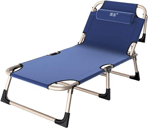 Lit De Camping Lit Pliant Lit Simple Portable Lit De Bureau Lit Médicalisé Chaise Longue Peut Supporter 200 Kg (Couleur   A, Taille   193  60  30cm)