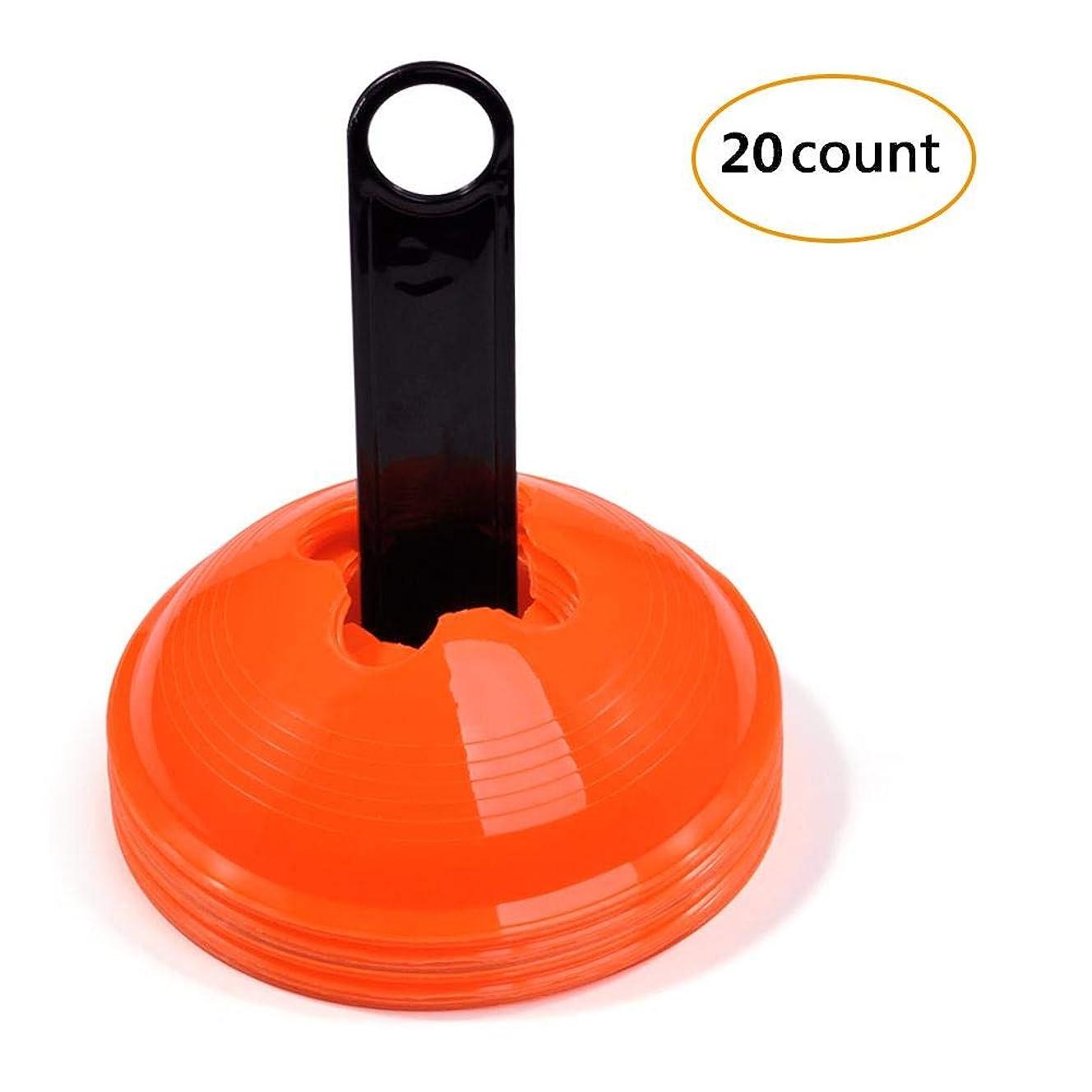 生産的先見の明範囲マーカーコーン カラーコーン サッカー用 トレーニング スケボー スポーツ用 ゲーム オレンジ色 障害物 20枚入り