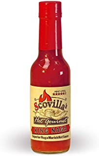Scovillas Hot Gourmet KING NAGA Superior Naga Morich Hot Sauce, 148ml