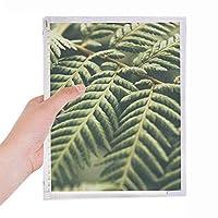 植物の葉の画像の性質 硬質プラスチックルーズリーフノートノート
