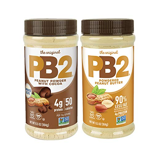 PB2 Powdered Peanut Butter and PB2 with Premium Chocolate. (Pack of 2)