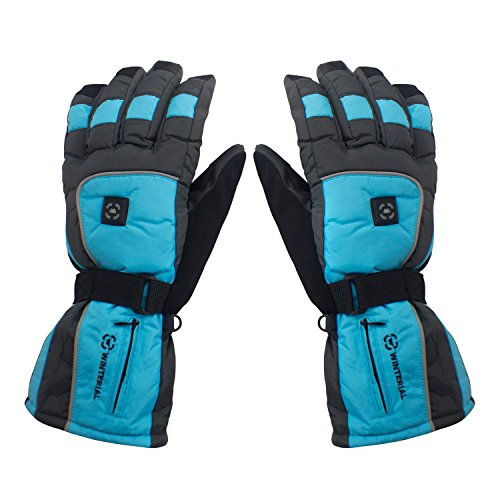 Winterial Gloves / Heated / Rechargeable / Snowboarding Gloves / Ski Gloves / Mens / Womens,Blue,Medium