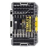 STANLEY STA88560-XJ Juego de Puntas para atornillar estándar FATMAX de 40 Piezas