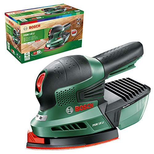 Bosch Home and Garden 0.603.3A1.301 Multilijadora de batería de Litio, 18 W, 18...