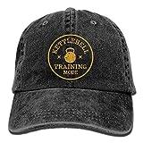 TeRIydF Kettlebell Training Mode Retro Workout Denim Dad Cap Baseball Hat Adjustable Sun Cap