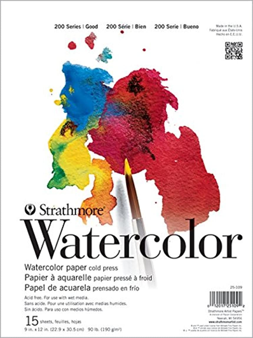 Strathmore ((25-118 STR-025-118 15 Sheet Cold Press Watercolor Pad, 18 by 24