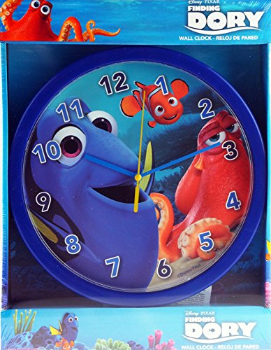 Disney Finding Dory - Reloj de pared para niños o niñas