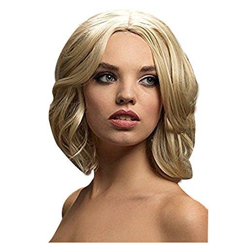 Fever, dames Olivia pruik, bob met zachte golven, 33 cm lengte Eén maat Dark Blonde