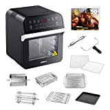 GoWISE USA GW44800-O Deluxe 12.7-Quarts 15-in-1 Electric Air Fryer Oven w/Rotisserie and Dehydrator...