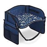 Navaris Tavolino Auto Bambini - Tavolo da Gioco Pieghevole - Banco da Viaggio per Giochi Bimbi - Vassoio Portatablet per Giocare Disegnare in Macchina