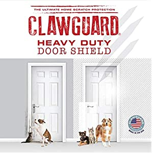 Heavy Duty CLAWGUARD – The Ultimate Door Scratch Shield, Frame & Wall Scratch Protection Barrier for Dog and Cat Clawing, Scratching and Damaging Doors, Scratch Shield 20in x 44in