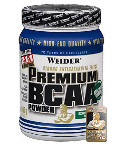 Weider Premium BCAA Powder Aminoacidi Ramificati, Sapore Exotic Punch - 500 Gr