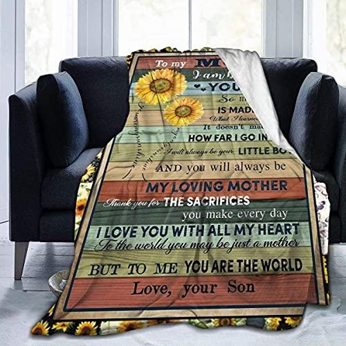 to My Mom-You are My Sunshine My Only Sunshine - Manta hipoalergénica para cama, sofá, silla, otoño, invierno, sala de estar, pequeña 80 x 60 pulgadas