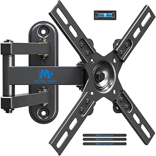 Mounting Dream TV Wall Mount Bracket Swivel and Tilt Monitor Wall Mount for Most 10-39 Inch LED, LCD Flat Screen TVs and Monitors up to VESA 200x200mm and 15 KG, with Articulating Arm, MD2463-L-02