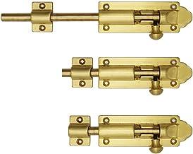 Ouderwetse bronzen deur, deurvergrendeling, raamklink, deur gesp, houten deur heldere koperen grendel-53cm * messing