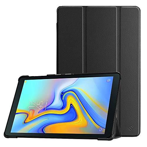 Fintie Hülle für Samsung Galaxy Tab A 10.5 2018 - Ultra Schlank Superleicht Schutzhülle mit Auto Schlaf/Wach Funktion für Galaxy Tab A 10.5 Zoll SM-T590/T595 Tablet-PC, Schwarz