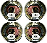 M-Parts 2 Pairs of Self-Adjusting 12-1/4' X 3-3/8' (12.25' X 3.375') Electric Trailer Drum Brake Assemblies Kit for 8,000 Lbs (8K) Trailer Axles; 2 LH (77-1208-1) + 2 RH (77-1208-2)