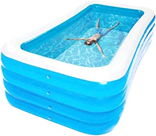 Childlike Piscina Hinchable Rectangular, Piscina Inflable Infantil, Familiar Engrosado PVC Ecológico Piscina Bañera Hinchable, Piscina Hinchable para Bebe Niños Adultos - 4 Tamaños