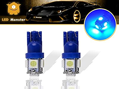 LED Monster 2-Pack COLOR 5SMD LED Bulbs 194 168 T10 2825 Car Dome Map License Plate Lights Lamp
